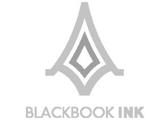 blackbook-ink logo, designed by Nik Hori Graphic designer Sydney