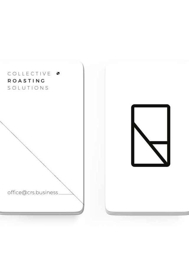Coffee roasting soltions business card by Nik Hori Graphic Designer Sydney