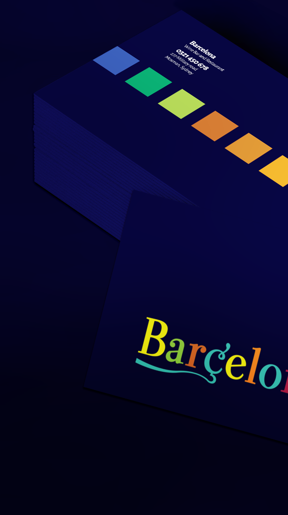 Barcelona_card_mockup Nik Hori Logo Designer Sydney